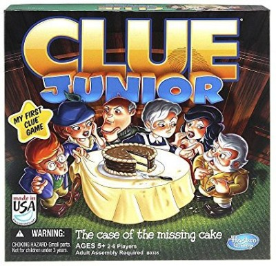 Hasbro Clue Junior The Case Of The Missing Cake Board Game