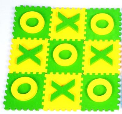 Cutez Tic Tac Toe Yellow Green Board Game