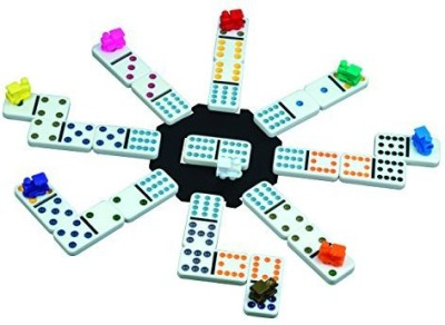 Cardinal Industries Cardinal Mexican Train Domino With Aluminum Case Board Game