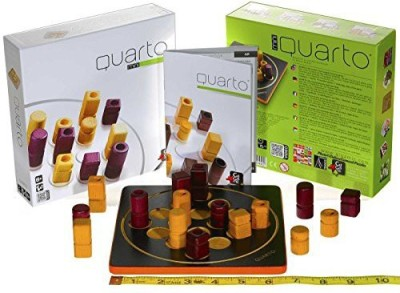 Gigamic Games of France Quarto Mini (Travel) Strategy _ For 2 Players _ New Board Game