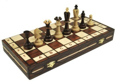 WEKAM Large Wooden Chess Set *Ace * Wood Set 16X16 Inch Board Game