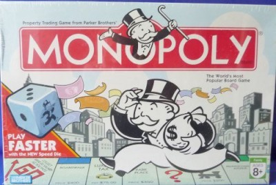 Parker Brothers Monopoly 2007 With Faster Play Speed Die Board Game