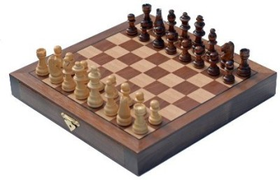 Wood Expressions Travel Walnut Wood Chess Set Board Game