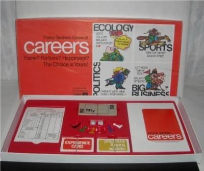 Parker Brothers Vintage Careers (1971) Board Game