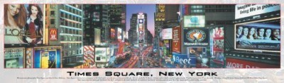 Buffalo Games Panoramic Times Square New York 750 Piece Jigsaw Puzzle Board Game