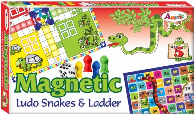 Annie Magnetic Ludo Snakes and Ladders Board Game