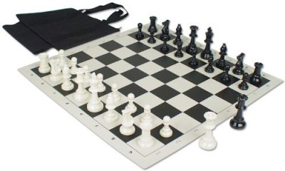 The Chess Store Value Club Tournament Kit With Sleeve Bag Black Board Game