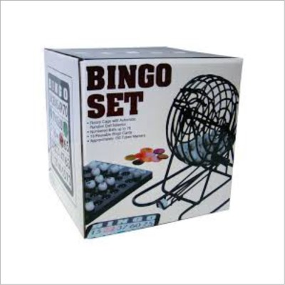 Smiledrive Rotary Cage Bingo/Lotto Gage Set with Automatic Random Ball Selector Board Game