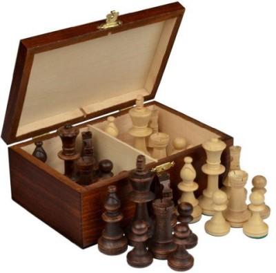 Wegiel Staunton No 5 Tournament Chess Pieces W/ Wood Box Board Game