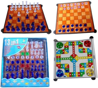 Prro 13 In 1 Magnetic Chess Board Family Board Game