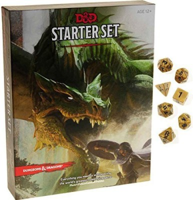 Deluxe Games and Puzzles Dungeons & Dragons Starter Set _ With Bonus Gold Swirl Board Game