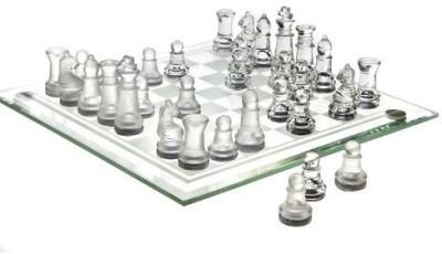 Studio Silversmiths Chess Set Fine Glass( 8 X 8) Board Game