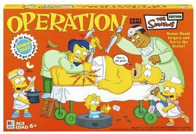 Hasbro Operation Simpsons Board Game