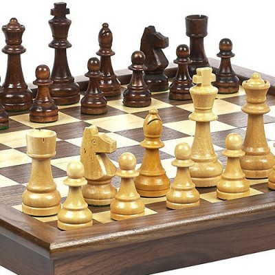 Bello Games New York, Inc. Grand Street Maple/Walnut Tournament Chess Set Board Game