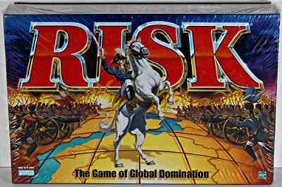Parker Brothers Risk 1998 With Army Shaped Pieces Board Game