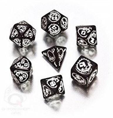 Q Workshop Dragon Dice Black/White (7) Board Game