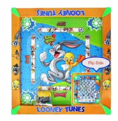 Kreative Kids 2 in 1 Carrom  20 inch    Looney Tunes Board Game available at Flipkart for Rs.474