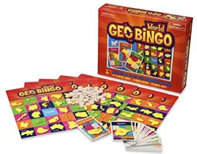 Geotoys Geobingo World Educational Geography Board Game