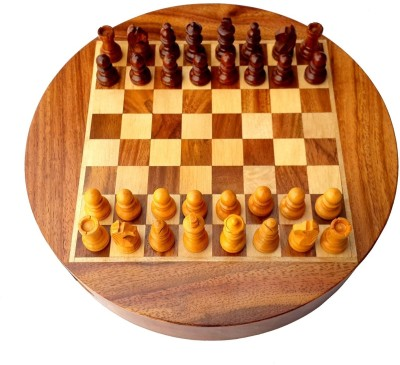 Stonkraft 9 Inch Collectible Premium Wooden Chess Set with Wood Made Pieces Board Game
