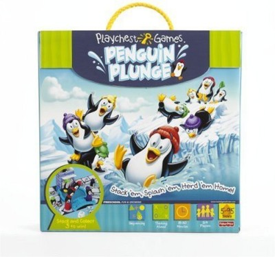 Mattel Playchest Penguin Plunge Board Game