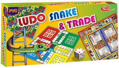 Shree Creations Ludo Snake And Trade Board Game