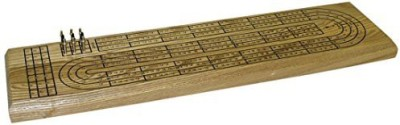 Worldwise Imports 3 Track Wood Cribbage Board Game