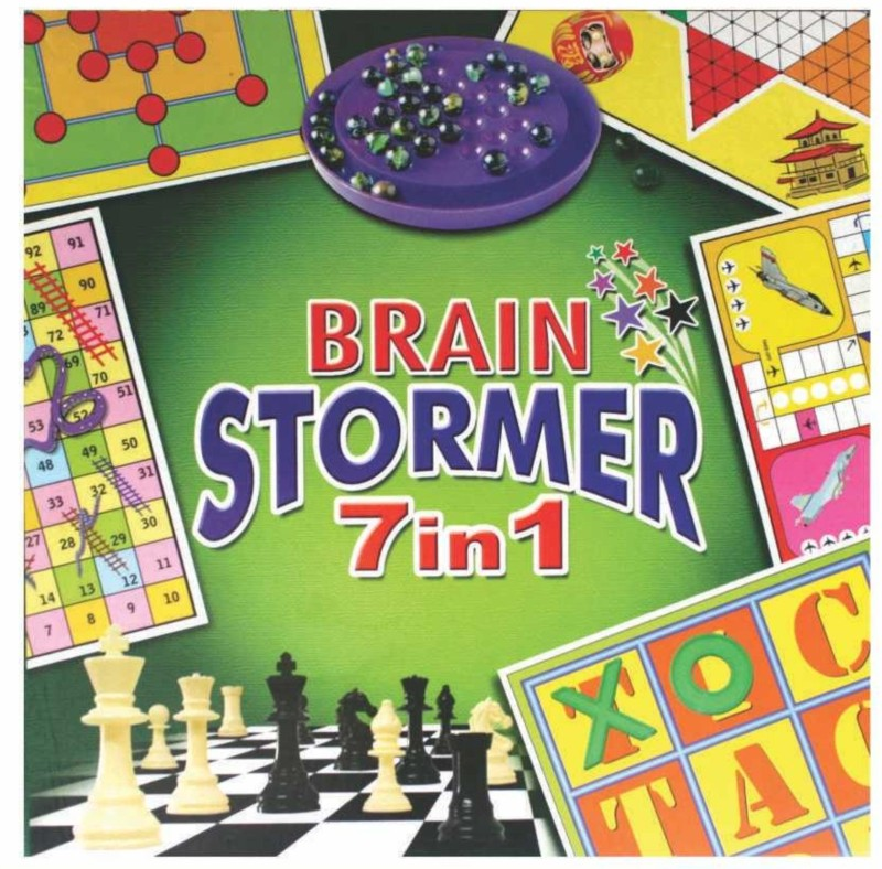 C J Enterprise Brain Stormer 7 In 1 Board Game
