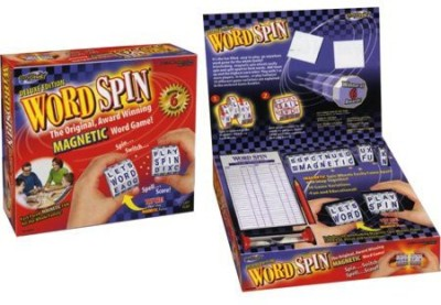 GeoSpace Word Spin Deluxe Hand Held Magnetic Board Game