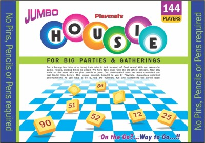 Playmate Housie - Jumbo (144 Cards) Board Game