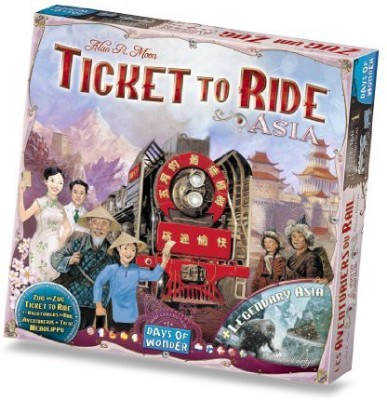 Days of Wonder Ticket To Ride Asia Map Collection Volume 1 Board Game
