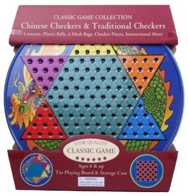 Classic Game Collection Chinese Checkers And Traditional Checkers Board Game