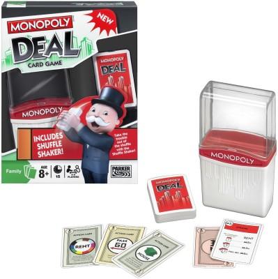 Monopoly Deal Shuffle Shaker Board Game