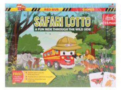 Zephyr Red Bus Safari Lotto Board Game