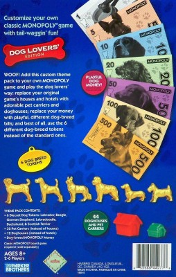 Monopoly Theme Pack Dog Lovers, Edition Board Game