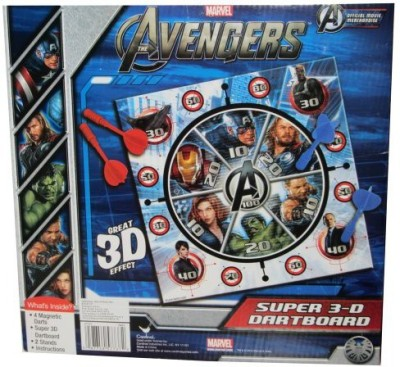 Cardinal Games Avengers 3D Magnetic Dart Board Game