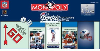 Monopoly New England Patriots Board Game
