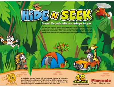 Playmate Hide N Seek Jungle Board Game