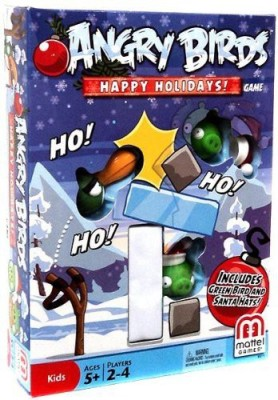 Angry Birds Mattel Happy Holidays Christmas Themed Board Game