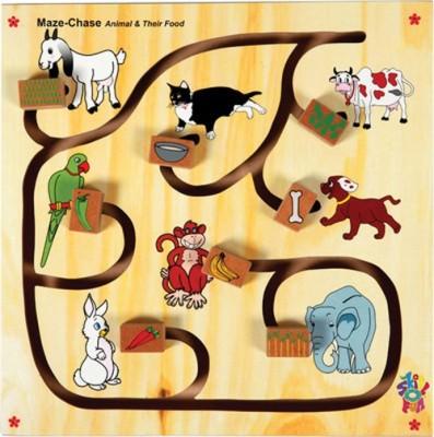 Skillofun Maze Chase - Animal and Their Food Board Game