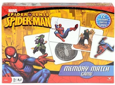 Cardinal Memory Match Spiderman Board Game