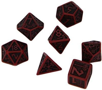 Q Workshop Dwarven Dice Red/Black (7) Board Game