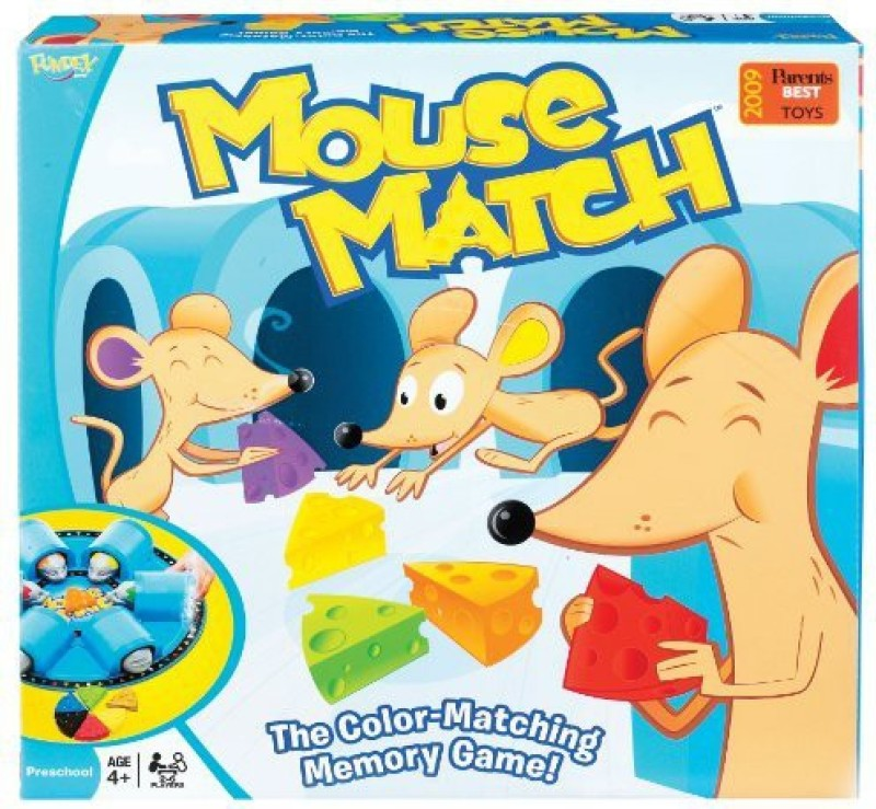 Ideal Mouse Match Memory Board Game