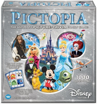 Disney Pictopia The Ultimate Picture- Trivia Family Board Game