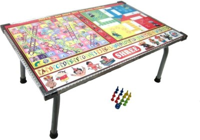 V.T. Multipurpose Wooden Foldable Table with Indoor Game 9.5 inch Dart Board