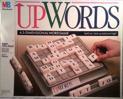 Milton Bradley Upwords A 3Dimensional Word (1988) Board Game