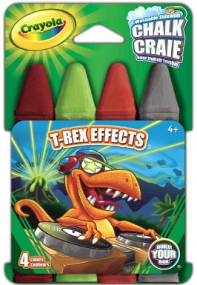 Crayola Build Your Box Trex Effects Chalk (4 Count) Board Game