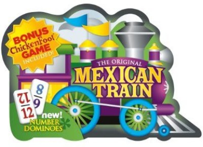 Puremco Mexican Train D12 With Numbers In Tin Board Game