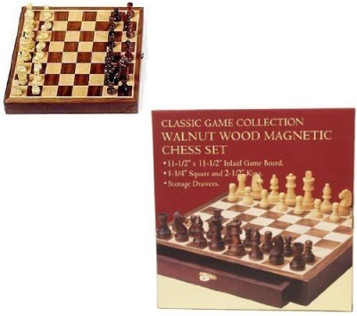 Classic Game Collection Walnut Wood Chess Set Board Game
