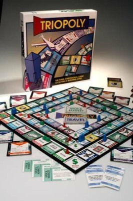 Reveal Entertainment, Inc. Triopoly Monopoly Style Board Game