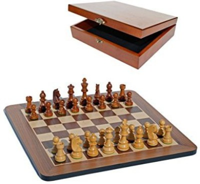 WE Games Grand Staunton Chess Set And Wooden Box Tournament Size Board Game
